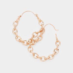 Jewelry - Chain Hoop Earrings